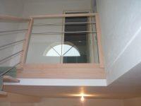 Balustre d'escalier bois et verre