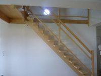 escalier bois à limon central