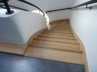 habillage chêne massif escalier bois